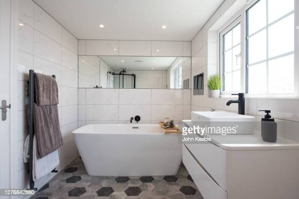 property interiors - domestic bathroom stock pictures, royalty-free photos & images
