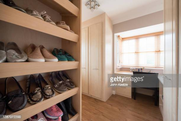 property interiors - footwear stock pictures, royalty-free photos & images