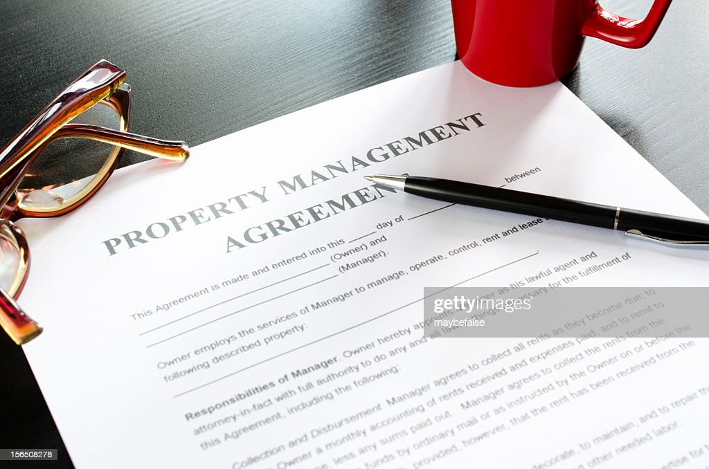 Property Management Agreement Stock Photo Getty Images