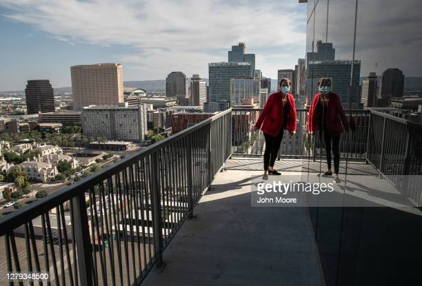 Property manager inspects a high rise apartment after a constable arrived to post an eviction order on October 7, 2020 in Phoenix, Arizona. Thousands...