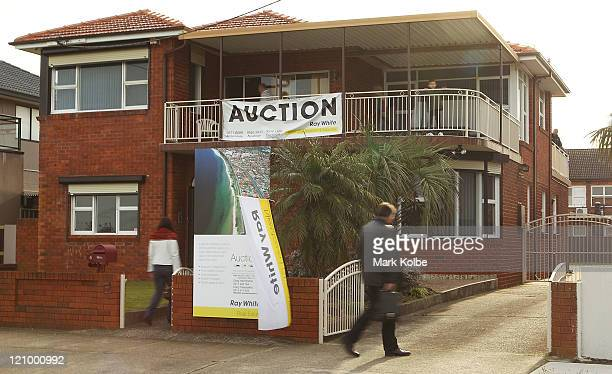 A property open for inspection ahead of auction is seen on August 13 2011 in Sydney Australia News the unemployment rate rose from 49 per cent to 51...