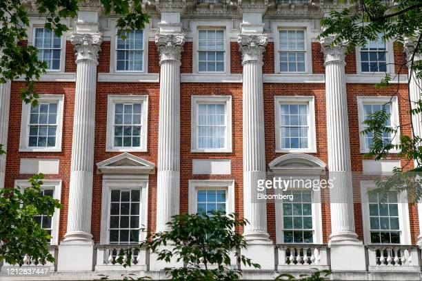 Property stands in Grosvenor Square in the Mayfair district of London, U.K., on Tuesday, May 12, 2020. The pandemic has crushed hopes of a recovery...