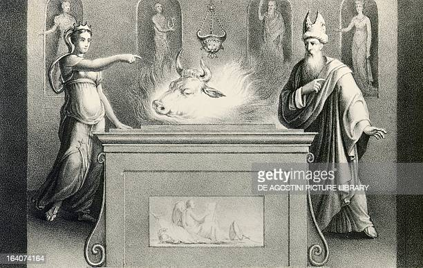 Prophecy of Helenus Book III of the Aeneid by Virgil Lithograph