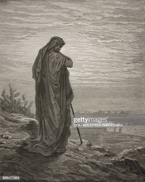Prophet Amos engraving by Gustave Dore from The Holy Scriptures containing the Old and New Testaments Translated from The Latin Vulgate by Antonio...