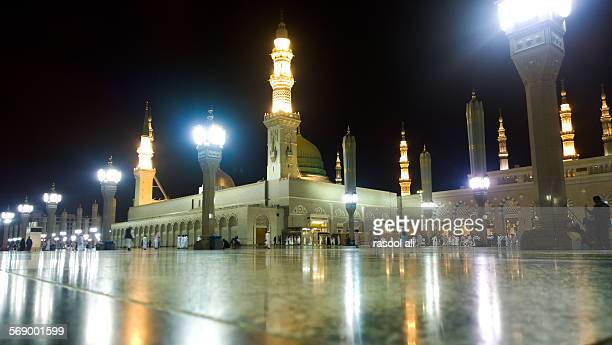 prophetic mosque - muhammad prophet stock photos and pictures