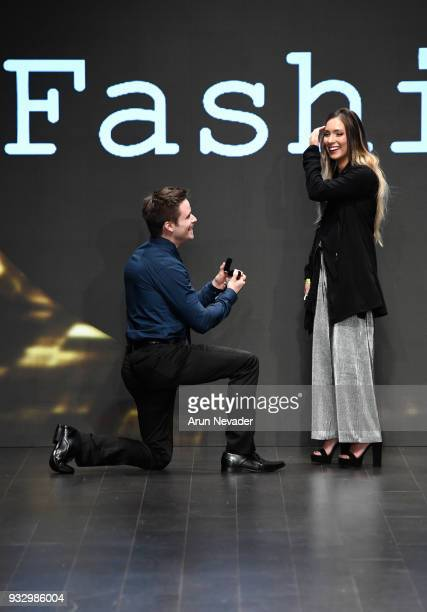 Proposal on the runway at Los Angeles Fashion Week Powered by Art Hearts Fashion LAFW FW/18 10th Season Anniversary Backstage and Front Row Day 5 at...