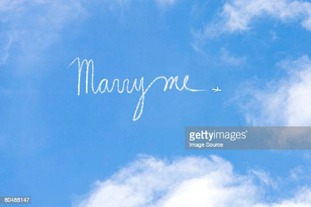 Proposal written in vapour trail
