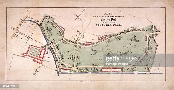 Proposed plan for Victoria Park Hackney London c1845