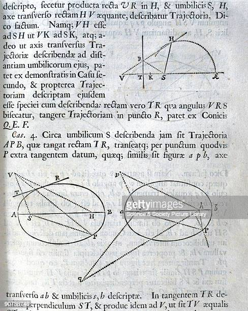 Proposition 20, Problem 12, from the first edition of Newton's 'Principia Mathematica' : �To describe about a given focus any trajectory, given in...