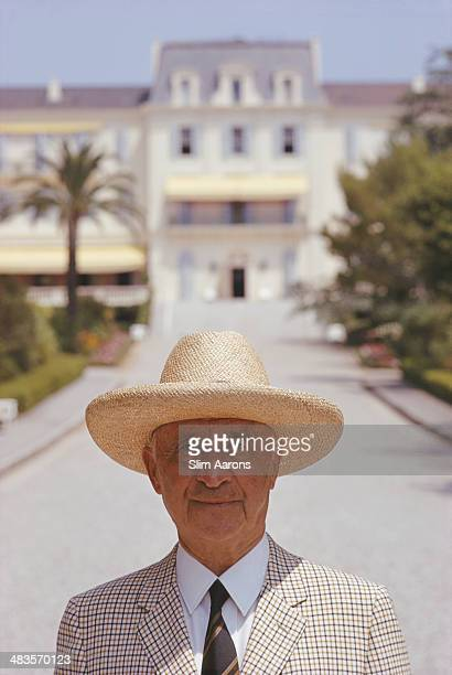 Proprietor Andre Sella outside the Hotel du Cap-Eden-Roc in Antibes on the French Riviera, August 1969.