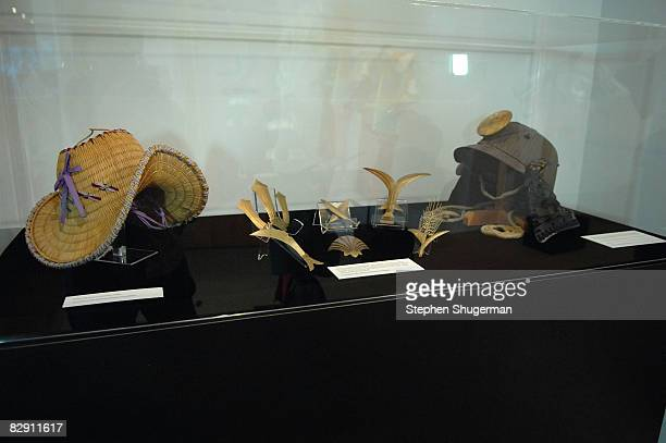 Props from Akira Kurosawa movies are shown on display at the Academy of Motion Picture Arts and Sciences' salute to director Akira Kurosawa at the...
