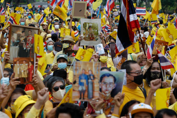 THA: Pro-royalists protest in Thailand