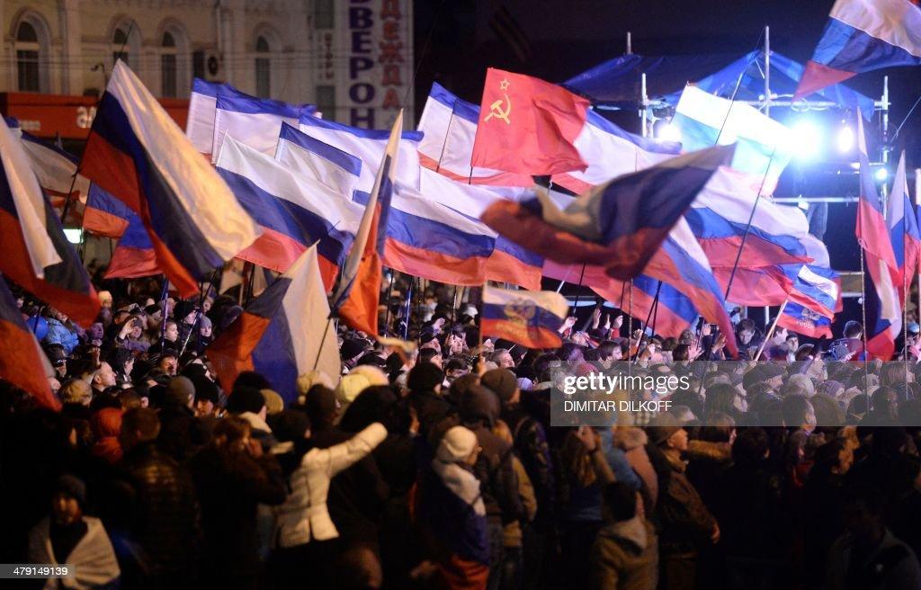 UKRAINE-RUSSIA-UNREST-POLITICS : News Photo