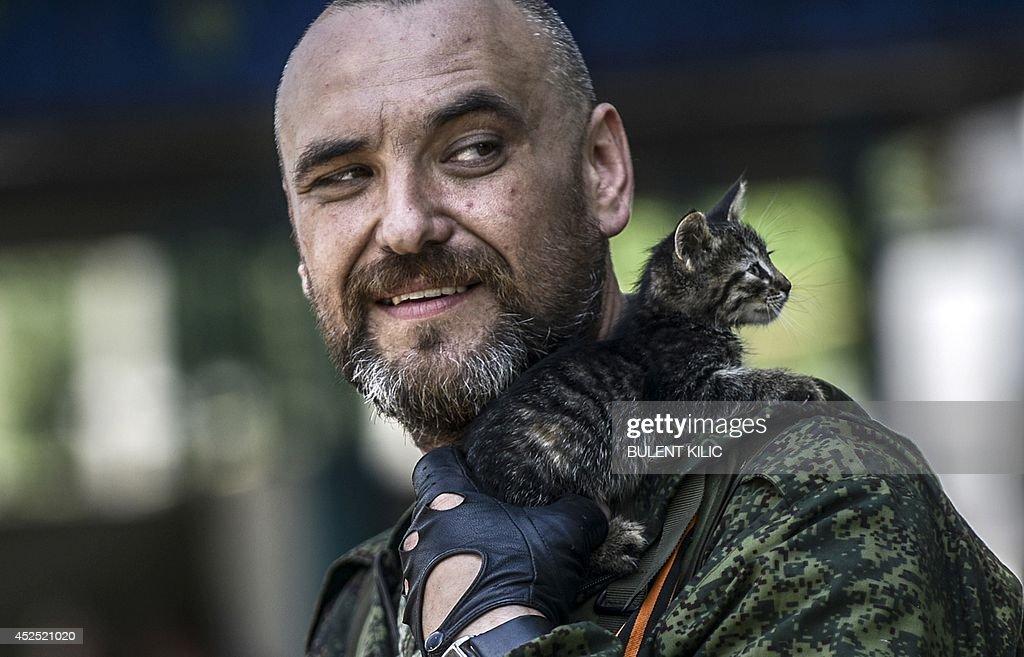 UKRAINE-RUSSIA-POLITICS-CRISIS-DONETSK : News Photo