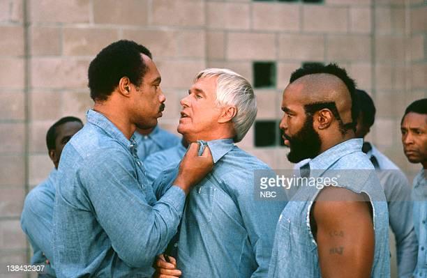 TEAM Pros and Cons Episode 3 Pictured Ken Norton as Jackhammer Jackson George Peppard as John 'Hannibal' Smith Mr T as BA Baracus