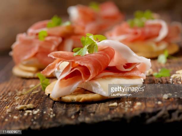Prosciutto and Brie Crackers