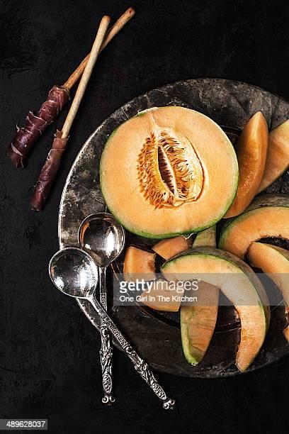 Prosciutto and cantalope melon