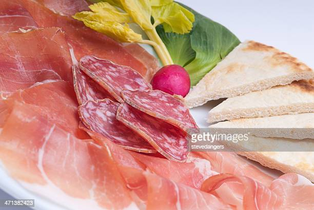 Prosciutto and salami
