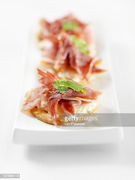 Prosciutto Canapes with Cream Cheese