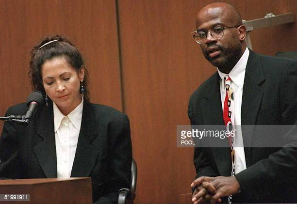 Prosecutor Christopher Darden asks aspiring screenwriter Laura Hart McKinny about the nondisclosure agreement 06 September about the Fuhrman Tapes...