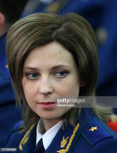 Prosecutor General of the Republic of Crimea Natalia Poklonskaya attends the extended board of Russian General Prosecutor's office on March 23 2016...
