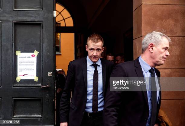Prosecutor Jakob BuchJepsen and police police inspector JensMoeller at Copenhagen City Court on the first day of the murder case against Peter Madsen...