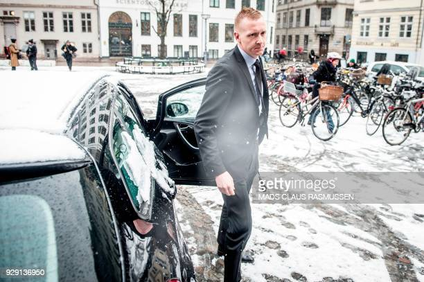 Prosecutor Jakob BuchJepsen arrives at the courthouse in Copenhagen where the trial of Danish inventor Peter Madsen charged with murdering and...