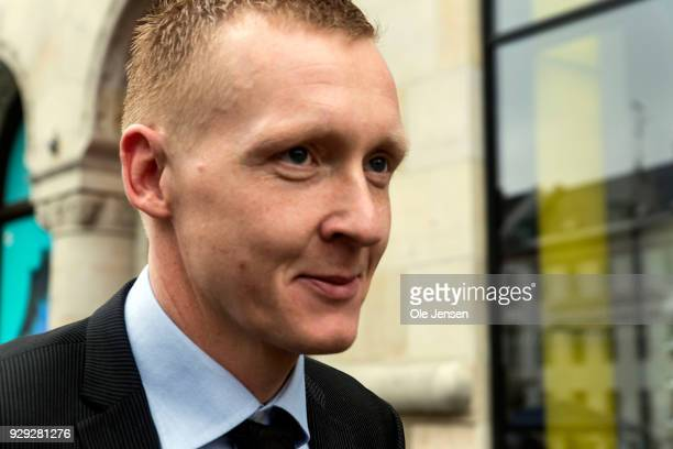 Prosecutor Jakob BuchJepsen at Copenhagen City Court on the first day of the murder case against Peter Madsen on March 8 2018 in Copenhagen Denmark...