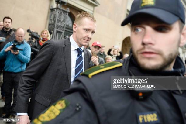 Prosecutor Jakob BuchJepsen leaves after a press briefing in front of the courthouse in Copenhagen after the verdict in the case of Peter Madsen was...