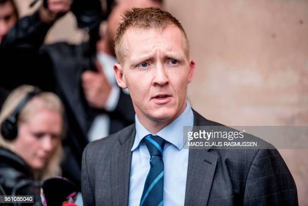 Prosecutor Jakob BuchJepsen speaks with journalists during a press briefing in front of the courthouse in Copenhagen after the verdict in the case of...