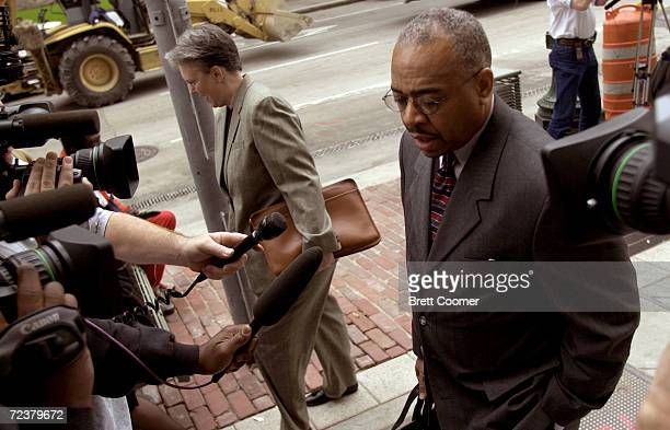 Prosecutor Joe Owmby walks into the Harris County Courthouse for the sentencing phase of the capital murder trial of Andrea Yates March 14, 2002 in...