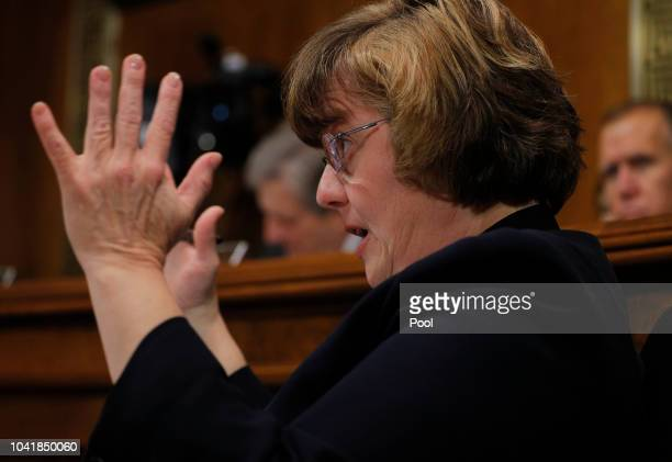 Prosecutor Rachel Mitchell questions professor Christine Blasey Ford who has accused US Supreme Court nominee Brett Kavanaugh of a sexual assault in...