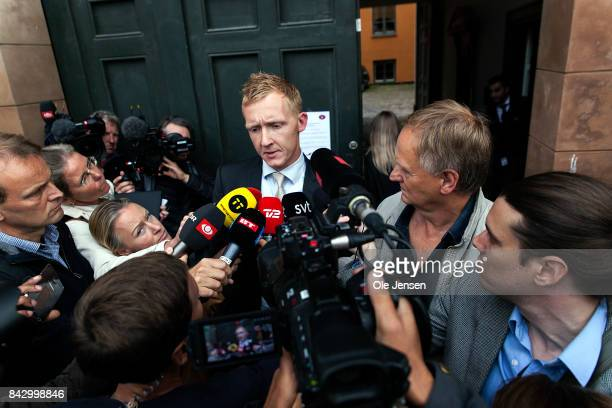 ProsecutorJakob BuchJepsen holds a press briefing after the Copenhagen City Court ruling that submarine owner Peter Madsen is to remain in custody on...