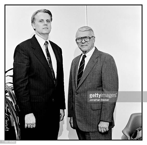 Prosecutors of the Dr Jack Kevorkian case Timothy Kenny and John O'Hair are photographed for Vanity Fair Magazine on April 1224 1994 in Detroit...