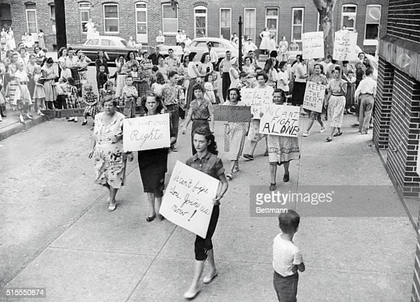 Pro-Segregation Rally in Baltimore 1954