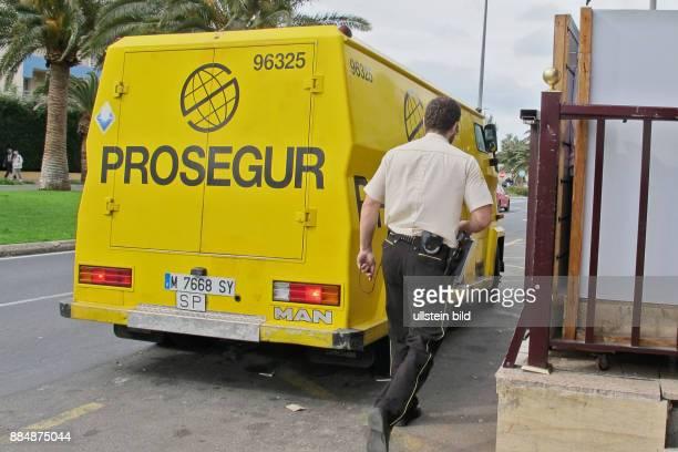 Prosegur Bediensteter in Jandia auf Fuerteventura/Süd