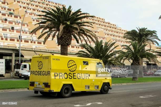 Prosegur Geldtransporter in Jandia auf FuerteventuraSüd