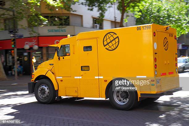 Prosegur private security company armored car in Avenida San Martin