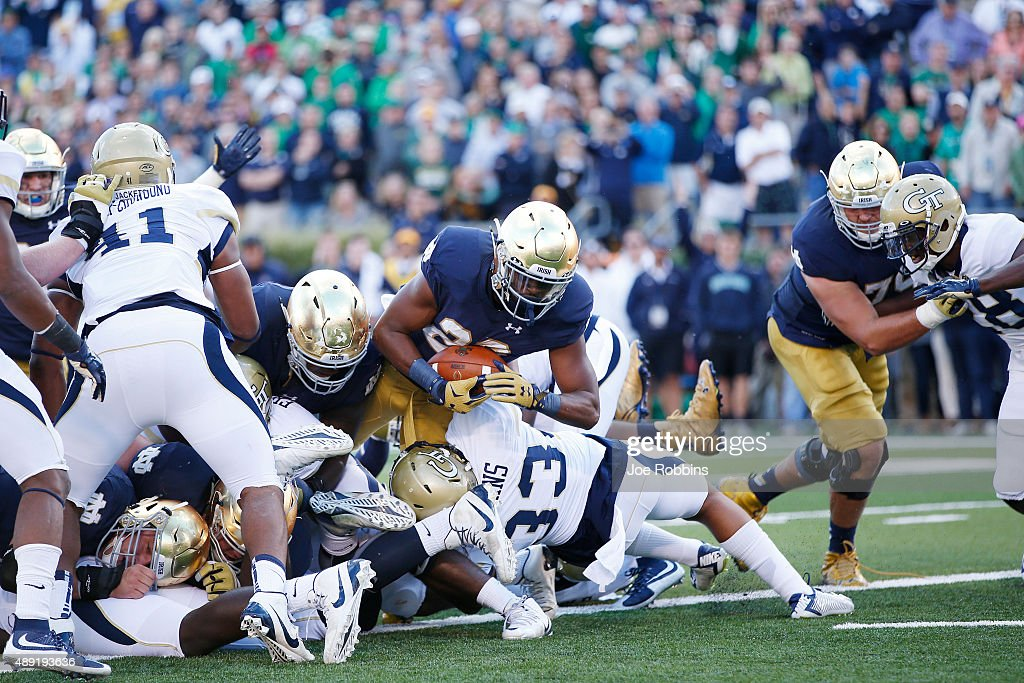 Georgia Tech v Notre Dame : News Photo