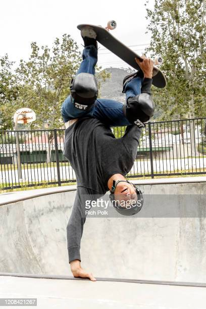"""Proskater Tony Hawk on the IMDb Series """"Special Skills"""" in Los Angeles California This episode of """"Special Skills"""" airs on February 25 2020"""