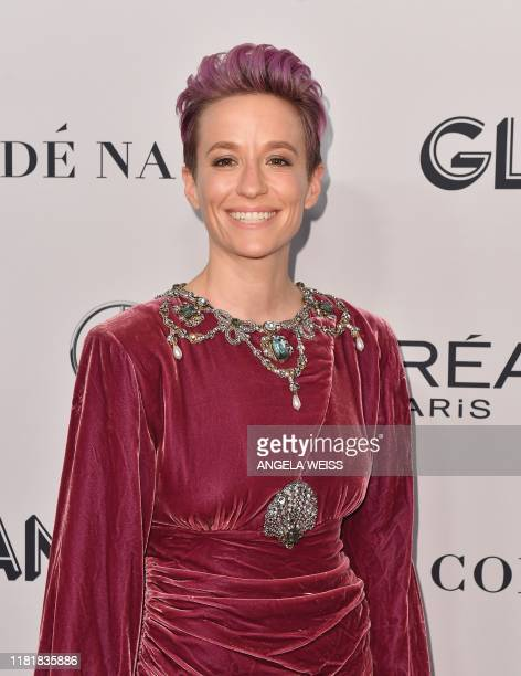 US prosoccer player Megan Rapinoe attends the 2019 Glamour Women Of The Year Awards at Alice Tully Hall Lincoln Center on November 11 2019 in New...