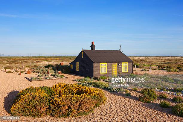 prospect cottage, dungeness, kent, england - dungeness stock pictures, royalty-free photos & images