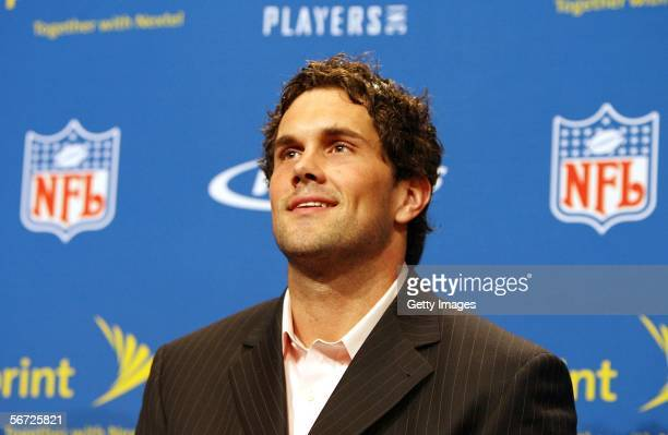 Prospect Matt Leinart attends a press conference to announce the Sprint to the Draft Sweepstakes on February 1 2006 at the General Motors Renaissance...