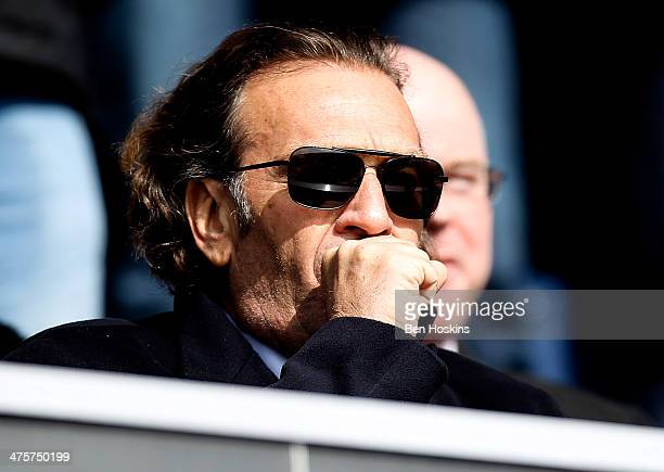 Prospective Leeds owner Massimo Cellino looks on prior to the Sky Bet Championship match between Queens Park Rangers and Leeds United at Loftus Road...