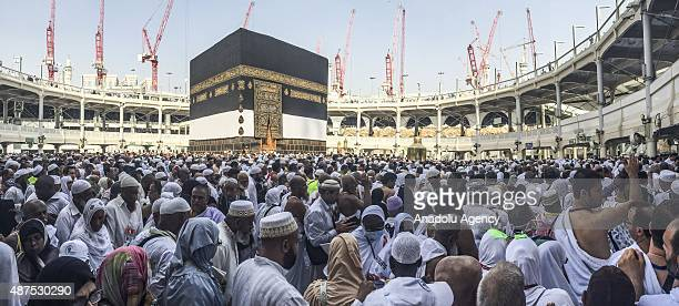 Prospective Muslim pilgrims circle the Kaaba at Masjid alHaram in Mecca Saudi Arabia on September 10 2015