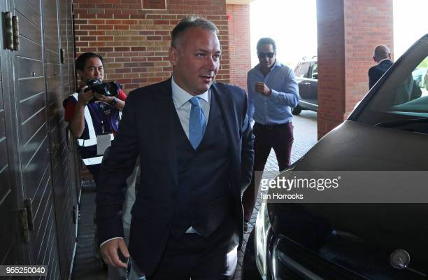 Prospective new owner Stewart Donald arrives before the Sky Bet Championship match between Sunderland and Wolverhampton Wonderers at Stadium of Light...