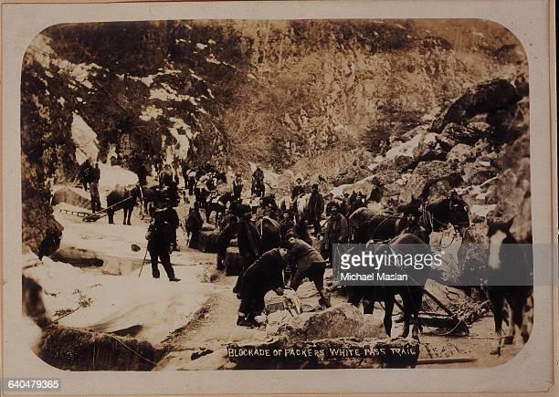Miners,Golden Stair Trail,Chilcoot Pass,Alaska,Gold Rush,c1898,Prospectors Infinite Photographs Photo