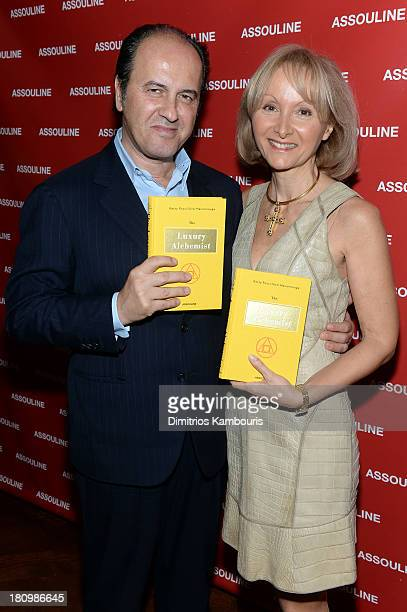 Prosper Assouline and author Ketty PucciSisti Maisonrouge attends ASSOULINE Martine and Prosper Assouline host a book signing for Ketty PucciSisti...