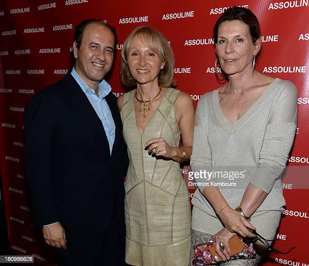 Prosper Assouline author Ketty PucciSisti Maisonrouge and Martine Assouline attend ASSOULINE Martine and Prosper Assouline host a book signing for...