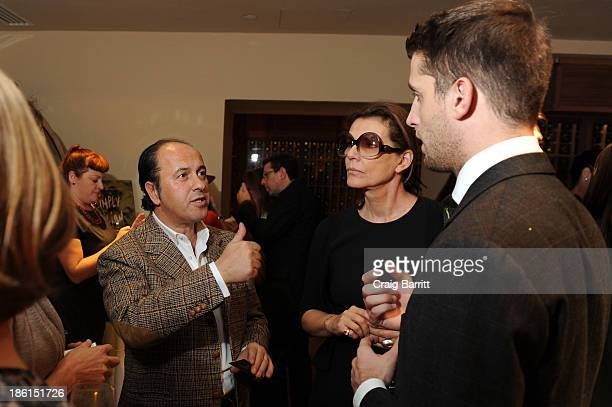 """Prosper Assouline, Martine Assouline and Ignazio Cipriani attend Assouline and Cipriani host the launch of """"Simply Italian"""" at Cipriani Wall Street..."""